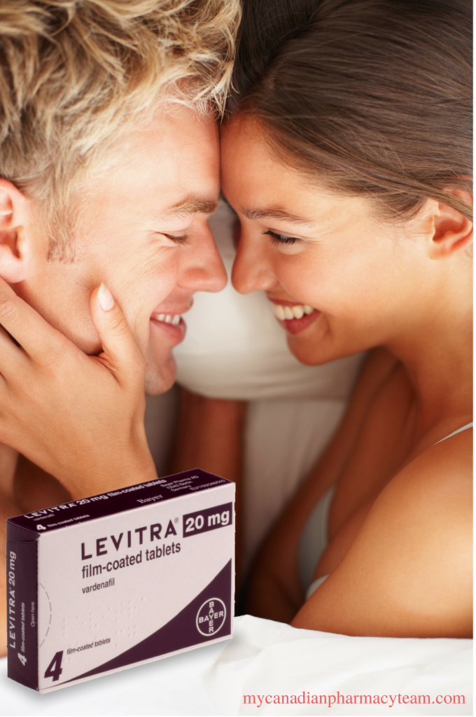 Intimate couple with Levitra