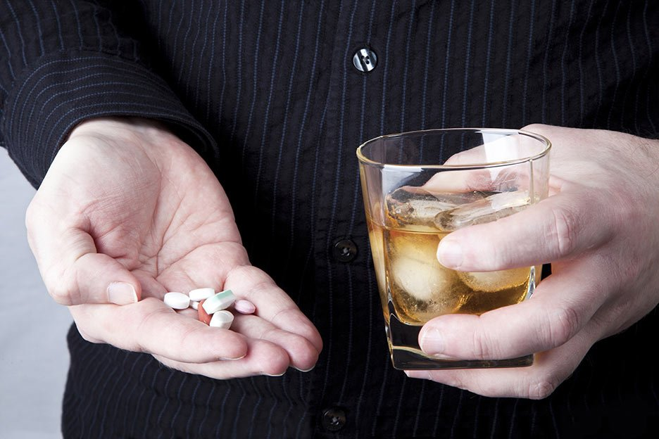 alcohol and antibiotic